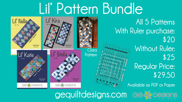 Lil' Pattern PDF Bundle - Without ruler purchase