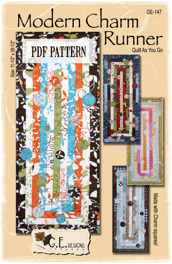 Modern Charm Table runner Pattern PDF