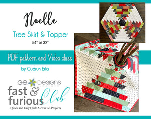 Noelle Tree Skirt and Topper - Pattern and video class