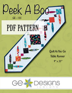 Peek A Boo Table Runner Pattern PDF