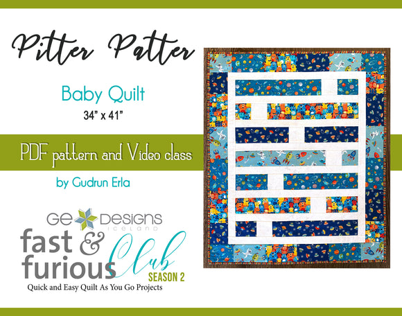 Pitter Patter Baby Quilt - Pattern and video class