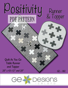 Positivity Table Runner & Topper Pattern PDF