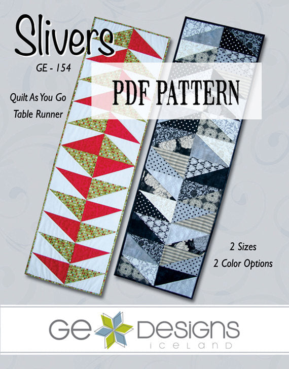 Slivers Table Runner Pattern PDF