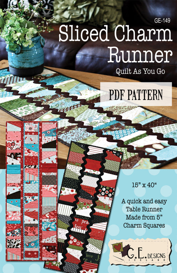 Sliced Charm Table Runner Pattern PDF
