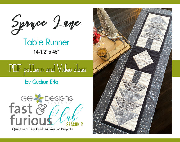 Spruce Lane Table runner - Pattern and video class