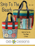 Strip To The Beach Tote Bag Pattern