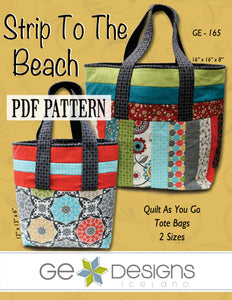 Strip To The Beach Tote Bag Pattern PDF