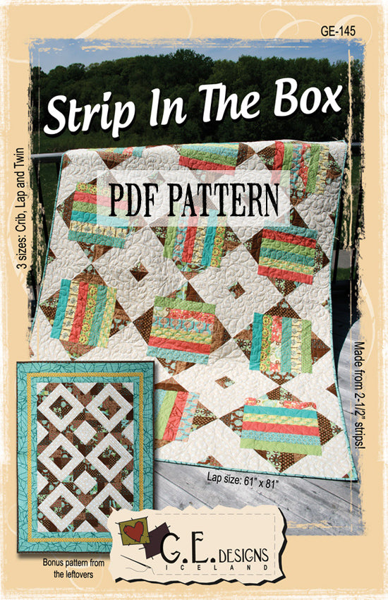 Strip In The Box PDF Pattern
