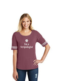 "Women's ""I'm a Stripologist"" 2020 Short sleeve shirt - Cranberry"
