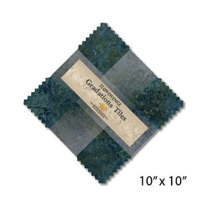 "Stonehenge Gradations 10"" Squares - Blue Planet"