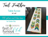 Tail Feather Table runner - Pattern and video class