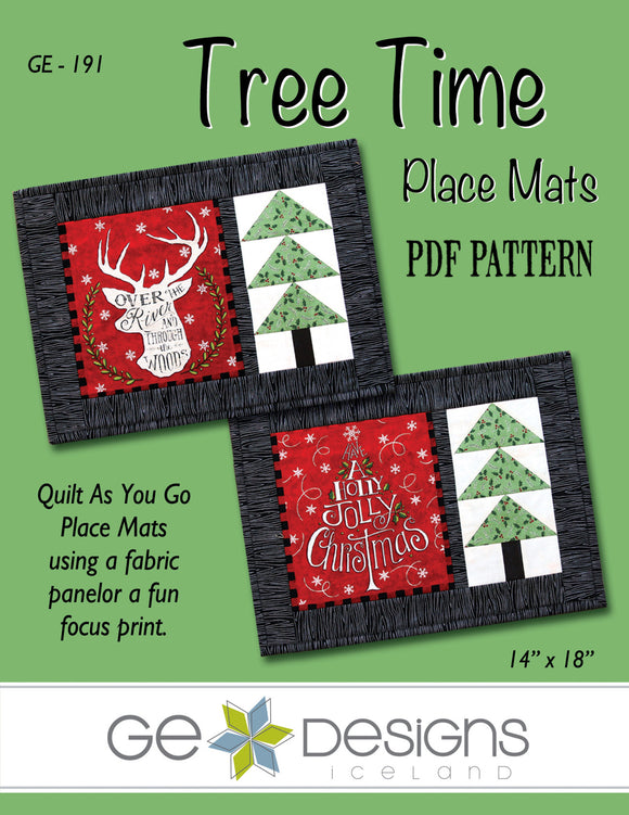 Tree Time Place Mats PDF Pattern