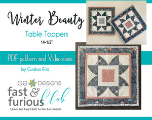 Winter Beauty Table Toppers - Pattern and video class