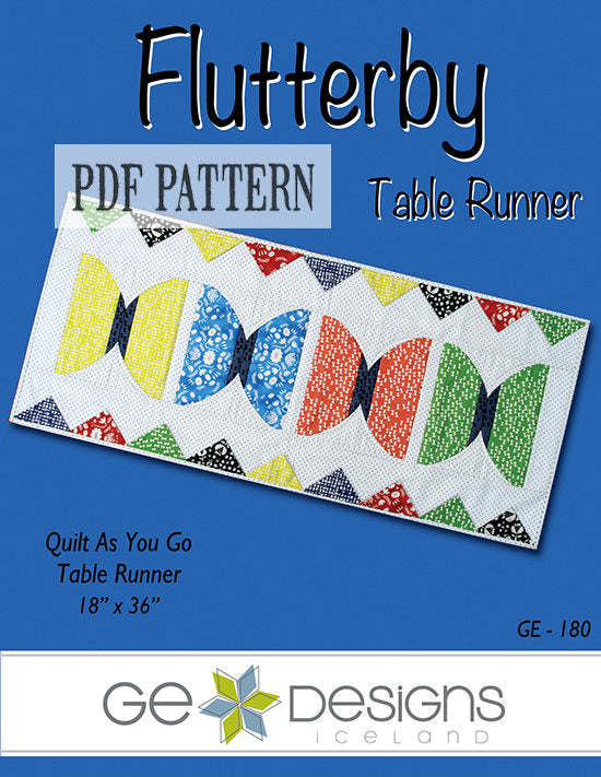 Flutterby Table Runner Pattern PDF