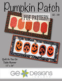 Pumpkin Patch Table Runner Pattern PDF