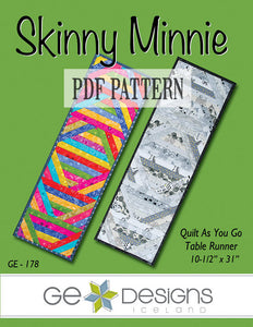 Skinny Minnie Table Runner Pattern PDF