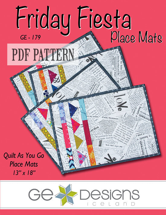 Friday Fiesta Place Mats Pattern PDF