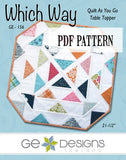 Which Way Table Topper Pattern PDF