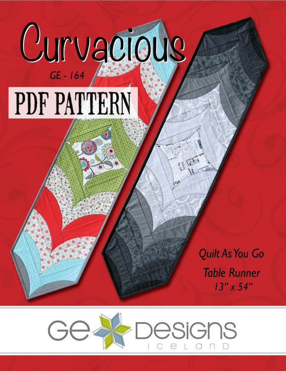 Curvacious Table Runner Pattern PDF