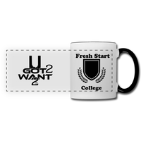 U Got 2 Want 2 Panoramic Mug White and Black - white/black