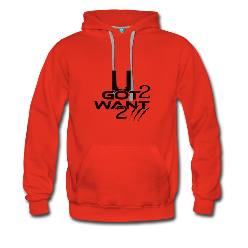 U Got 2 Want 2 Sports Hoodie - red
