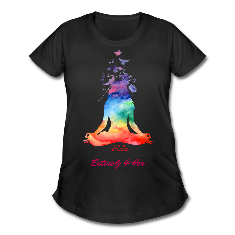 Entirely 4 Her Women's Maternity Yoga T-Shirt - black
