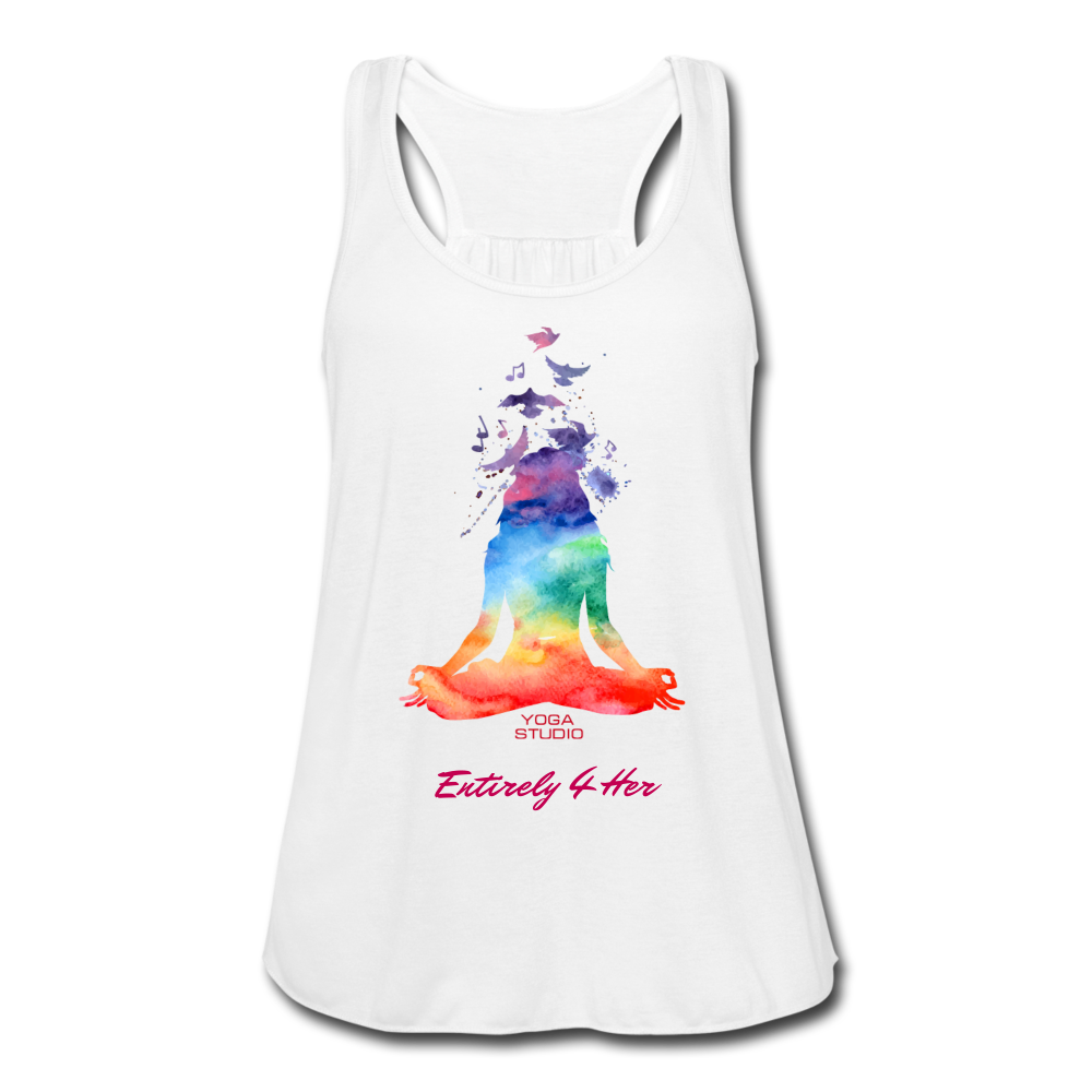 Entirely 4 Her Women's Flowy Yoga Tank Top - white