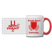 U Got 2 Want 2 Panoramic Mug White and Red - University - white/red