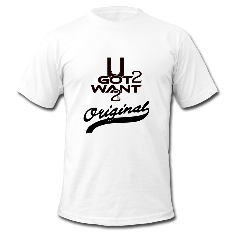 Men's Jersey t-shirt U Got 2 Want 2 Men's Original white with black logo - Midwest 2 U