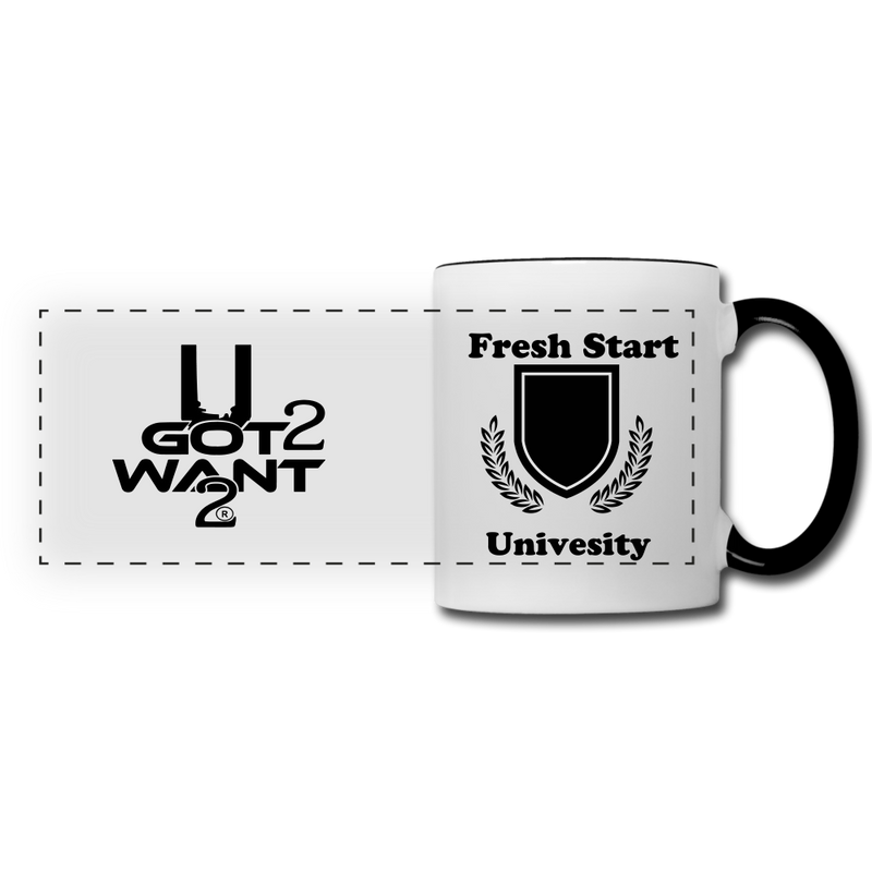 U Got 2 Want 2 Panoramic Mug White and Black -University - Midwest 2 U