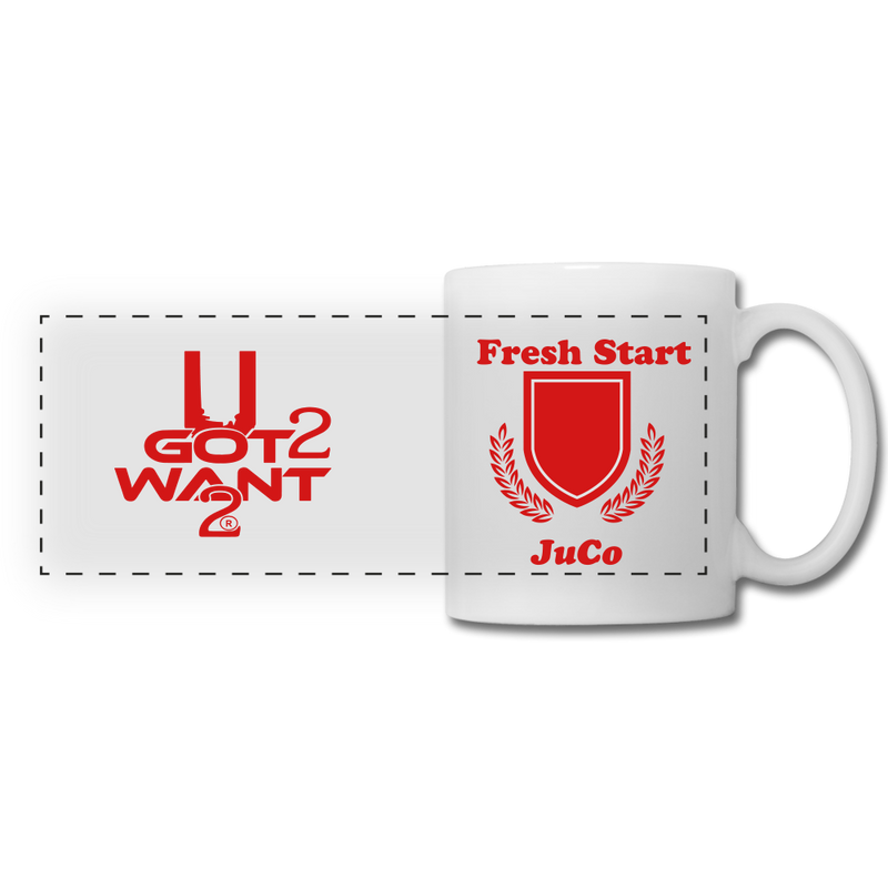 U Got 2 Want 2 Panoramic Mug White and Red. - white