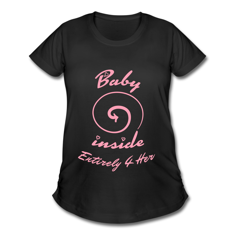 Entirely 4 Her Women's Maternity Baby Inside Tee -PNK - black