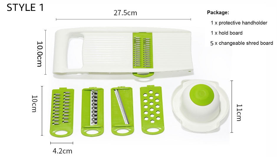 Myvit Vegetable Cutter with Steel Blade Mandoline Slicer - Midwest 2 U