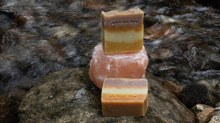 Frankincense, Wild Orange and Vetiver - All Natural, Mostly Organic Body Soap