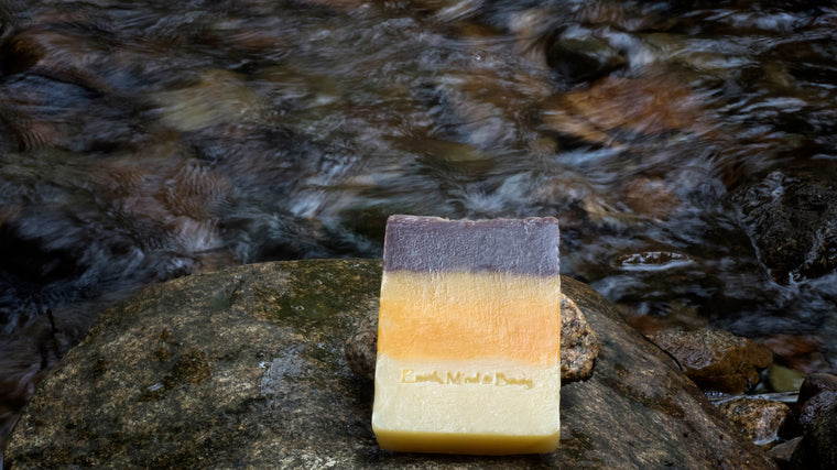 Patchouli, Sweet Orange & Ginger All Natural, Mostly Organic Body Soap