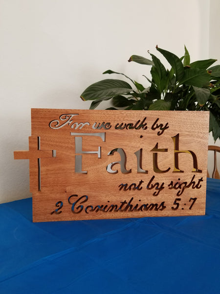 Walk By Faith Plaque