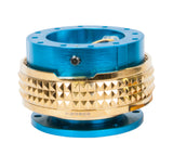 Quick Release Gen 2.1 - New Blue / Chrome Gold Pyramid Ring