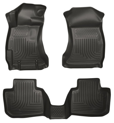 Husky Liners Subaru 2015+ WRX/STi WeatherBeater Combo Front & 2nd Row Black Floor Liners