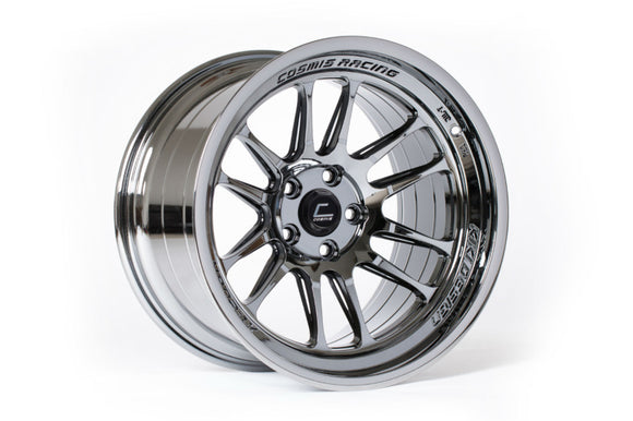Cosmis XT-206R  18x9.5 +10mm 5x114.3-Black Chrome