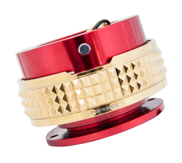 Quick Release Gen 2.1 - Red / Chrome Gold Pyramid Ring