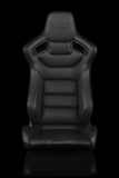 ELITE SERIES RACING SEAT – BLACK STITCHING [FIXED BACK]