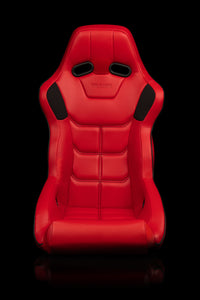 FALCON X SERIES FIA APPROVED FIXED BACK RACING SEAT (RED LEATHERETTE)