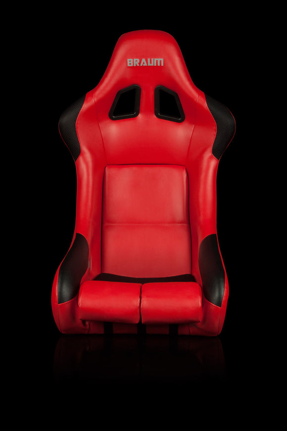 FALCON SERIES FIA APPROVED FIXED BACK RACING SEAT (RED LEATHERETTE)
