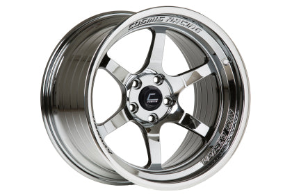 Cosmis XT-006R 18x11 +8mm 5x114.3- Black Chrome