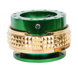 Quick Release Gen 2.1 - Green / Chrome Gold Pyramid Ring