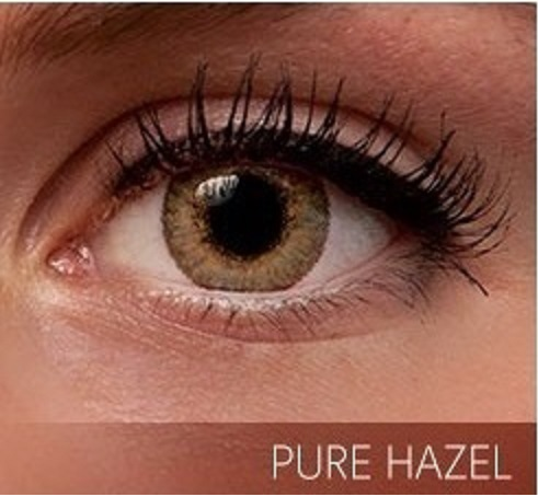 Non Prescription Colored Contacts >> Pure Hazel Premium 3 Tone Color Contact Lenses