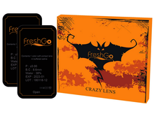 BLACK Halloween SFX Crazy Color Contact Lenses A1