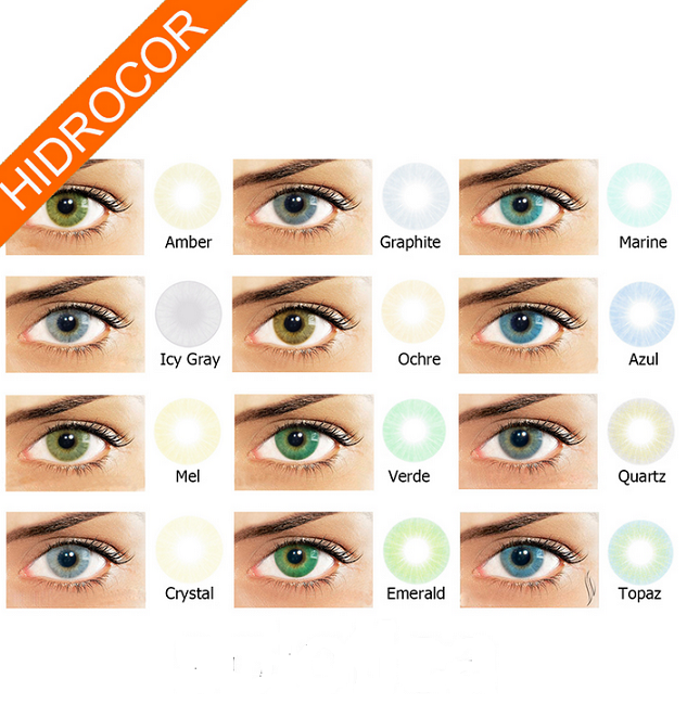 Non Prescription Colored Contacts >> Crystal Hidrocor Colored Contact Lenses