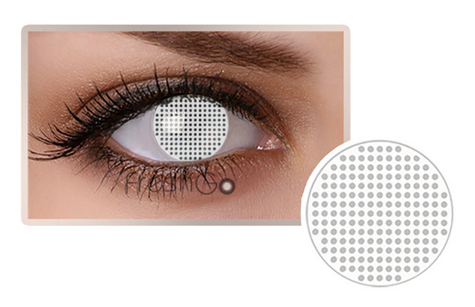 WHITE MESH Halloween SFX Color Contact Lenses A11