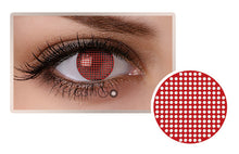 RED MESH Halloween SFX Crazy Colored Contact Lenses A12